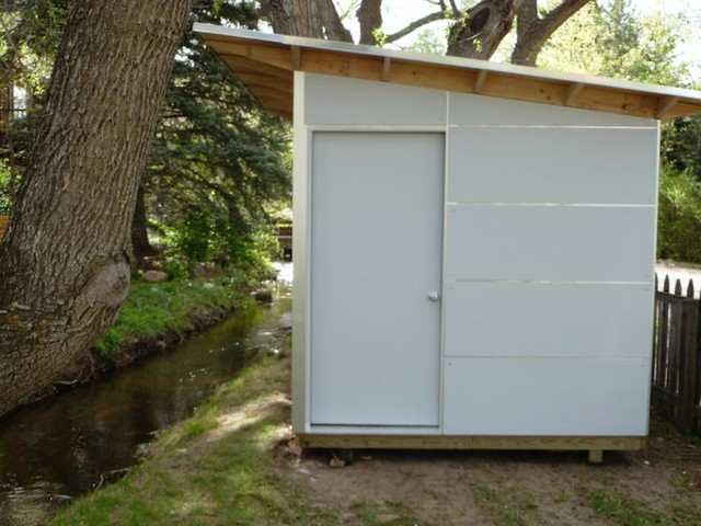 Little Green U0026 White Storage Shed: Studio Shed Storage Modern Garden Shed