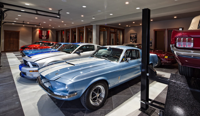MAN CAVE DREAM GARAGE Contemporary Garage And Shed