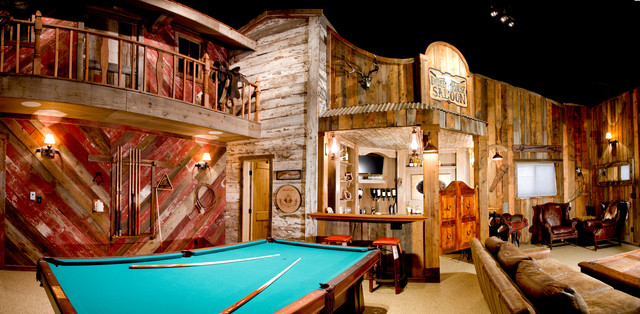 Rustic Man Cave Garage : Man cave quot old town rustic garage denver by dream