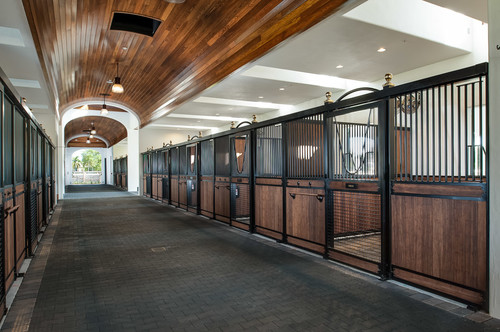 Horse stables architectural design splendor for Horse barn materials