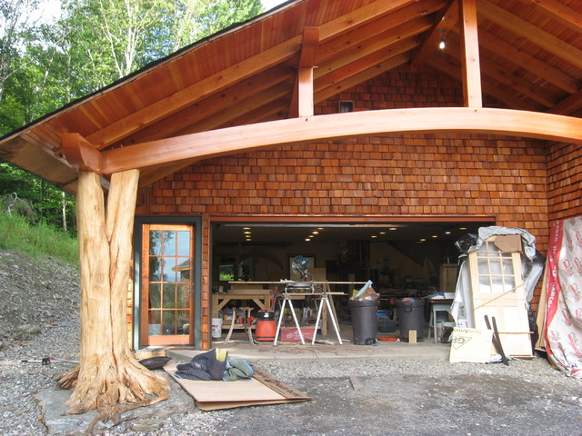 Middlesex Timber Frame Carport Eclectic Garage And