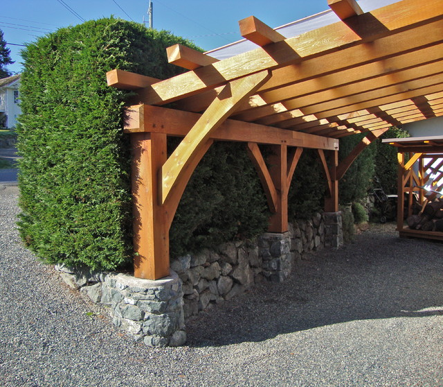 Mill Bay courtyard the cargola Modern Shed Vancouver by