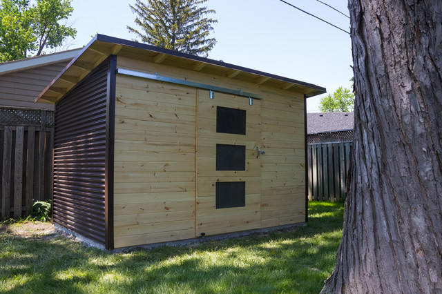 Modern Garden Shed In Windor Ontario And