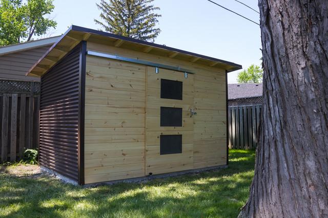 Modern Garden Shed In Windor Ontario, Modern Garden Sheds