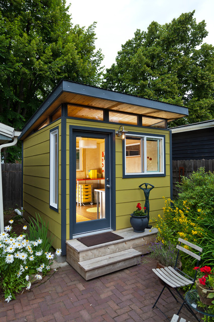 Ordinaire Example Of A Small Minimalist Detached Studio / Workshop Shed Design In  Portland