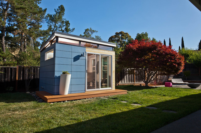 Modern shed home office contemporary shed san for Outside office shed