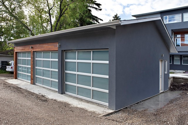 Rectangle modern granny flat or shed calgary by for Garage with granny flat on top