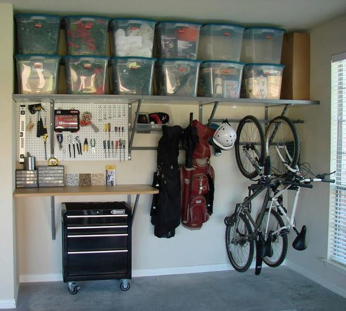 DIY garage organization should make use of your walls