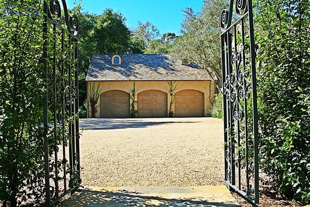 Montecito mediterranean-garage-and-shed