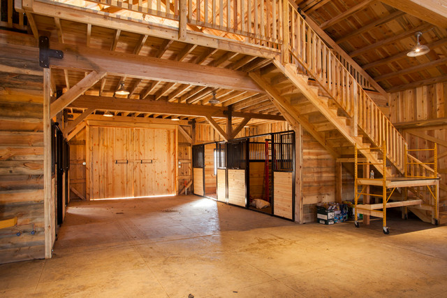 Multi purpose barn in iowa farmhouse shed other by for Post and beam barn plans