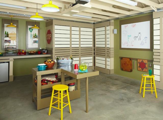 Multipurpose Garage Makeover Modern Garage And Shed