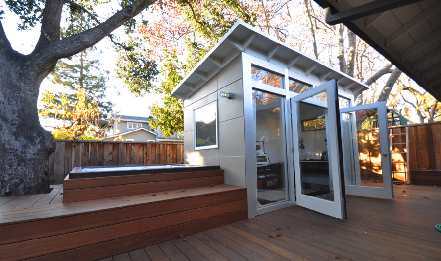Music Studio Shed Office 8x14 Contemporary Shed San Francisco By Studio Shed Live Large Build Small