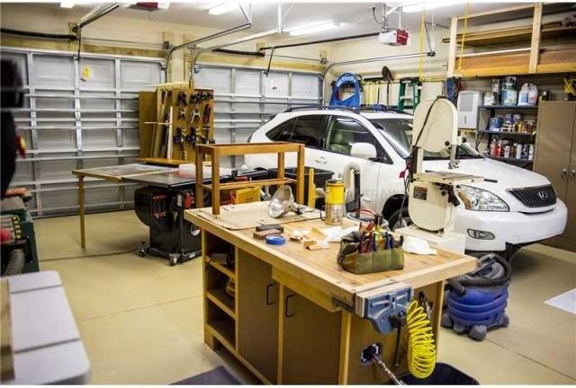 New detached garage workshop kitchen patio build out for Detached garage workshop