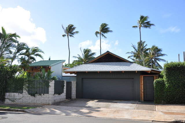 Noio Street Kahala Residence tropical-garage-and-shed