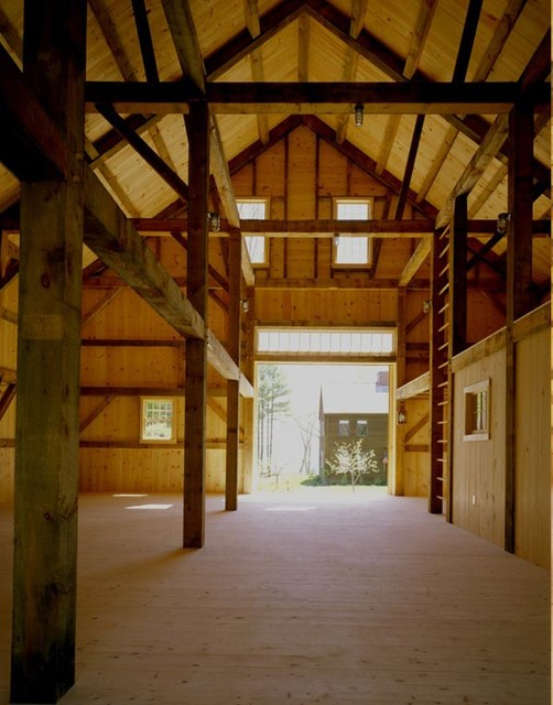 Old Fashioned Timber Frame Barn Rustic Garage And Shed Portland Maine By Houses Amp Barns