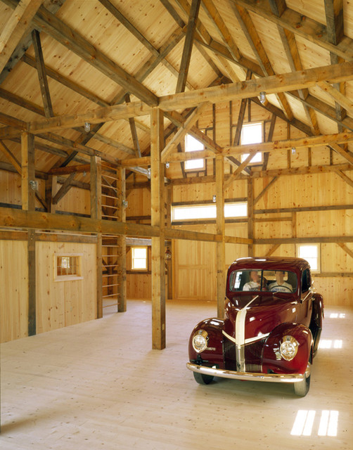 Old Barn Garage : Old fashioned timber frame barn rustic garage and shed