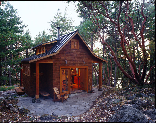 Orcas Island Cabin rustic-garage-and-shed