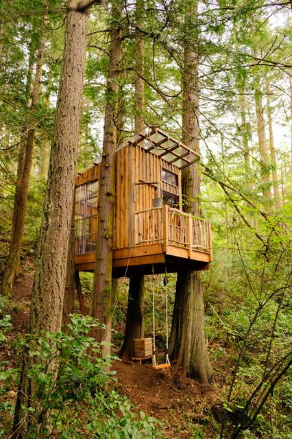 Orcas treehouse rustikal gartenhaus seattle - Gartenhaus einrichtungstipps ...