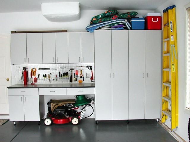 Organize To Go Basic Garage Organizer Peg Board Storage Cabinets Work Benchtraditional Shed Portland