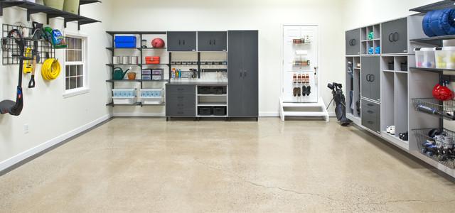 Organized living classica and freedomrail garage storage solutions traditio - Amenagement garage ikea ...