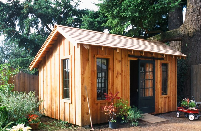 Outbuildings Rustic Garage And Shed Portland By Full Circa Inc