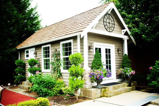 Outdoor living craftsman garage and shed seattle for Home designs llc