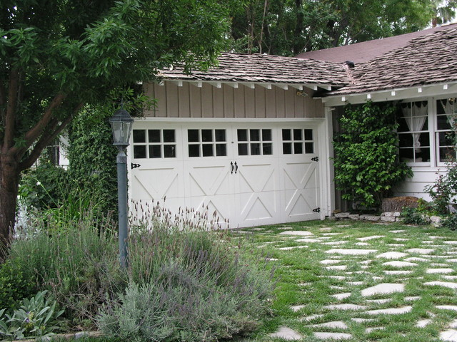 Paint grade wood carriage house french country farmhouse for Farmhouse garage doors