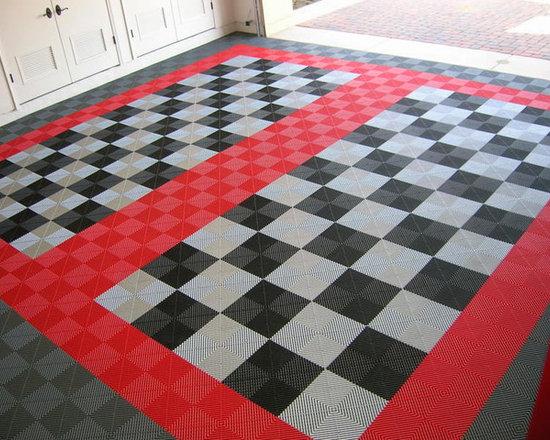Patterned Garage Flooring -