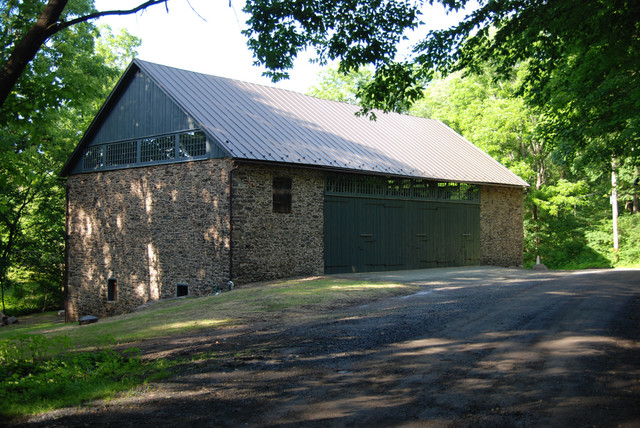 Peach Lane Barn traditional garage and shed