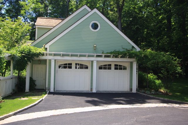 Pergola over the Garage - Traditional - Shed - New York ...