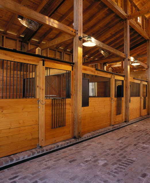 Plantation Horse Stable Traditional Garage And Shed