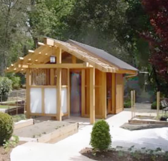 Pool House Japanese Bath House Asian Shed San