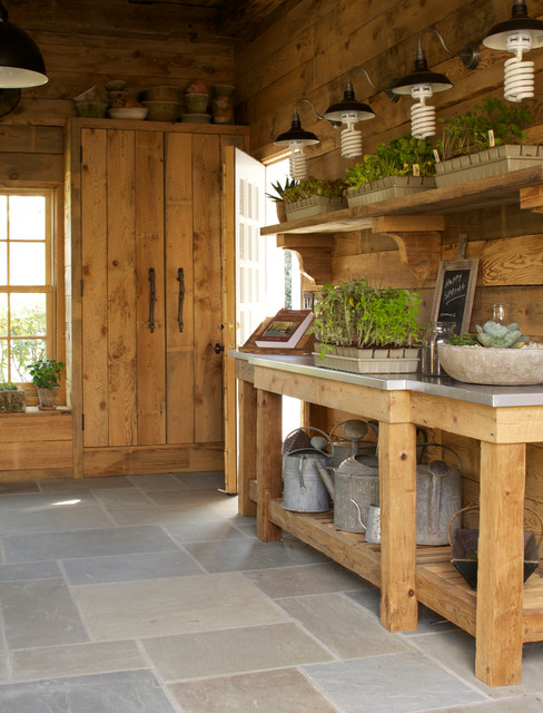 Potting Shed CTC & G May 2013 - Rustic - Garage And Shed - new york - by Greenworld Pictures Inc