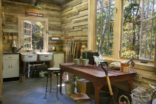 Potting shed rustic-garage-and-shed