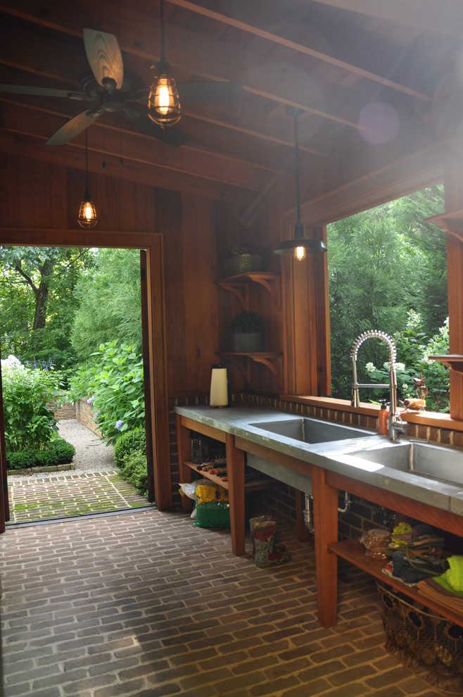 Small elegant attached garden shed photo in Atlanta