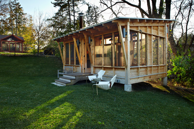Prarie Meets Pampa Pavilion - Rustic - Porch - Minneapolis - by M Valdes Architects PLLC