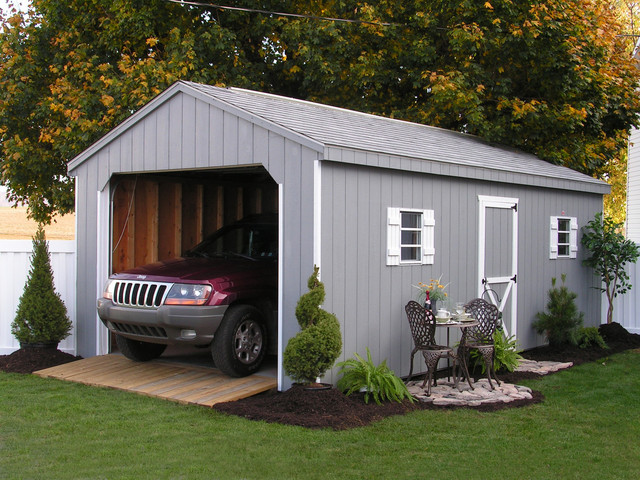 Prefab One Car Garage Sheds Traditional Granny Flat Or Shed