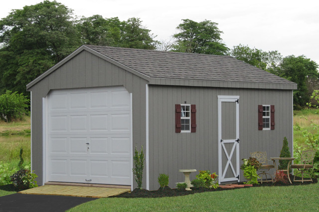 Prefab One Car Garage Sheds Traditional Garden Shed And Building