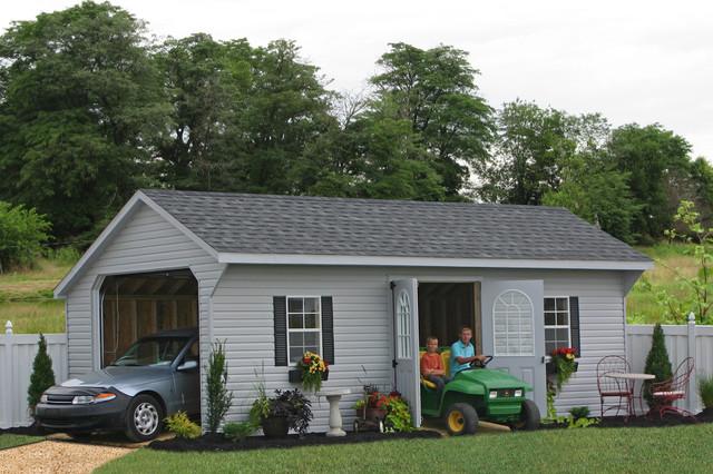 Prefab One Car Garage Sheds