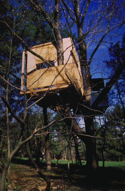 Princeton Treehouse modern-garage-and-shed