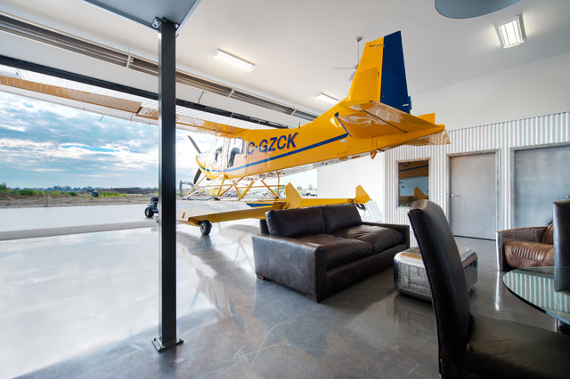 Private airplane hangar contemporary shed vancouver for Aircraft hangar home designs
