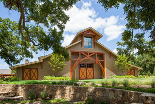 Private Car & Sign Collection Barn - Traditional - Shed - Houston - by Texas Timber Frames
