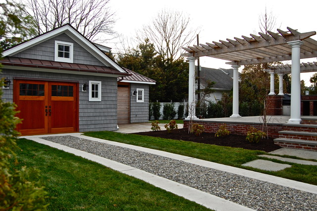 Project in process down the shore! traditional-garage-and-shed