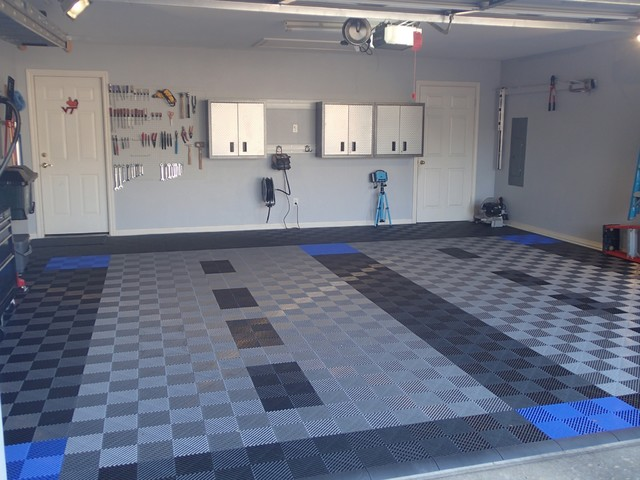 RaceDeck Garage Flooring - FreeFlow open rib style - Contemporary - Garage And Shed - by RaceDeck