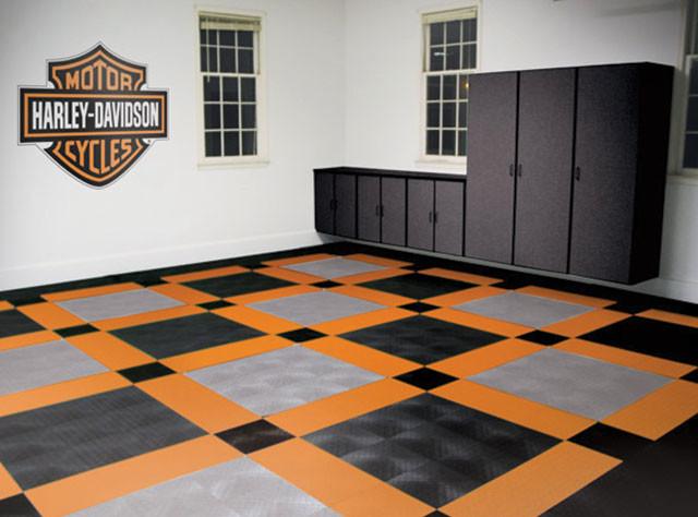 Racedeck Garage Flooring Harley Davison Theme Garage