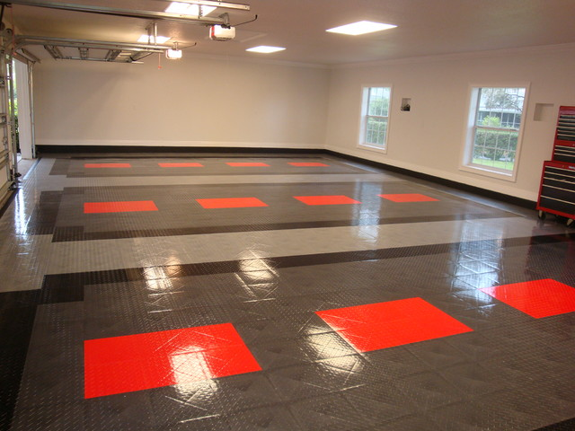 RaceDeck garage flooring ideas - cool garages with cool cars too  contemporary-granny-flat