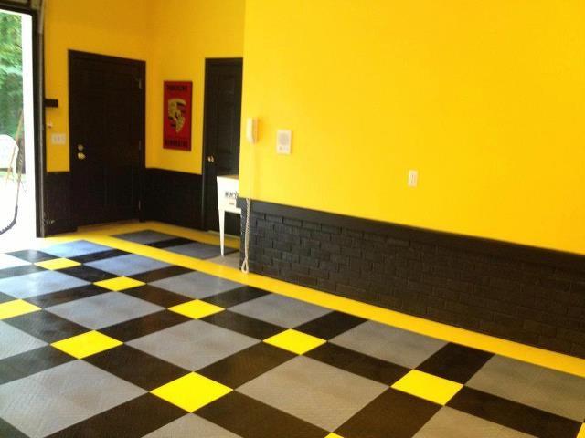 Racedeck garage flooring ideas cool garages with cool for Cool cheap flooring ideas