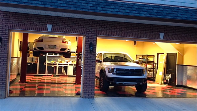 Racedeck garage flooring ideas cool garages with cool for Cool garage interior designs