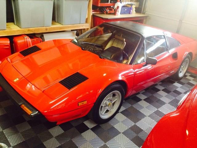 RaceDeck Garage Flooring with Red Ferrari ( 'Magnum PI ) garage-and-shed