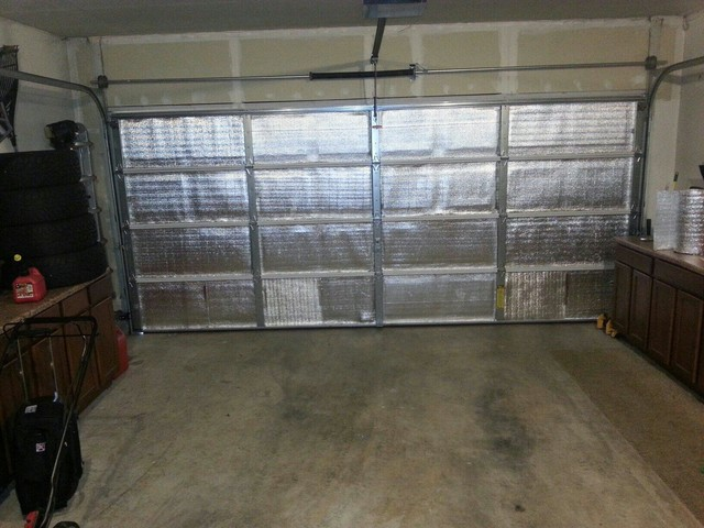 Radiant barrier called sol blanket insulation in the for Garage door repair lake worth fl